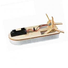 Koło łodzi wiosła Technologia mała produkcja diy handmade puzzle montażu zabawki nauki zabawki elektryczne łódź zabawki