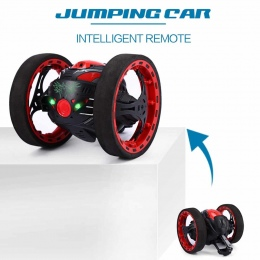 Mini Samochody Bounce Samochód PEG SJ88 2.4 ghz RC Samochód z Elastycznego Koła Obrót LED Zdalnego Sterowania Robotem Samochód z