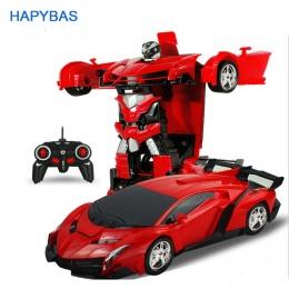 2w1 Transformacja Roboty Modele RC Samochód Sportowy Samochód Zdalnego Sterowania Deformacji Samochodu RC zabawki KidsChildren w