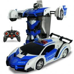 Odporne Na Wstrząsy elektryczne RC Samochód Sportowy Samochód Transformacja Robot Zabawki Zdalnego Sterowania Deformacji Samocho
