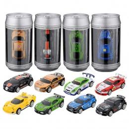 Gorąca Sprzedaż Coke Czy Mini Radio Pilot Zdalnego Sterowania RC Samochodu Micro Car Racing 4 Częstotliwości Dla Dzieci Prezenty