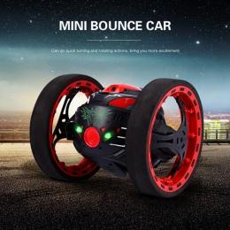 Mini Prezenty Bounce Samochód PEG SJ88 2.4 ghz RC Bounce Samochód z Elastycznego Koła Obrót LED Zdalnego Sterowania Robotem samo