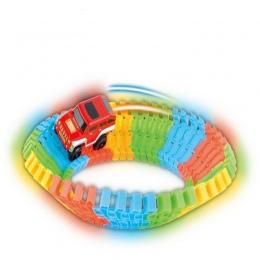 1 Zestaw Diecast DIY Zabawa Zabawka Logiczna Rollercoaster Utworu elektronika Wagonu Zabawki dla Dzieci Chłopcy Prezenty Urodzin