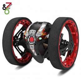 Szybki Samochód RC PEG-81 Bounce Skoki Samochodów Zdalnego Sterowania zabawki Elastyczny Obrót Koła Muzyka LED Light Kaskaderów