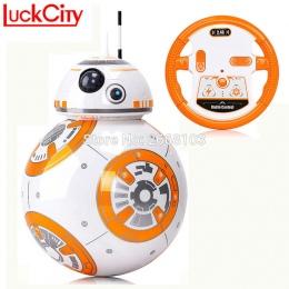 Szybka dostawa BB-8 Piłka 20.5 cm Star Wars RC BB 8 BB8 Droid Robot 2.4G Zdalnego Sterowania Inteligentny Robot Figurka Model za