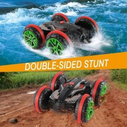 GizmoVine 1:18 RC Kaskaderów Samochód 360 Obrót Zdalnego Sterowania Samochodu Jazdy na Wody i Land Amfibia Elektryczne Zabawki D
