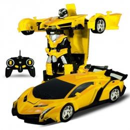Odporne Na Wstrząsy Robot transformacja RC Samochód Sportowy Samochód Coche De Juguete RC Deformacji Samochodu Zabawki Dla Dziec