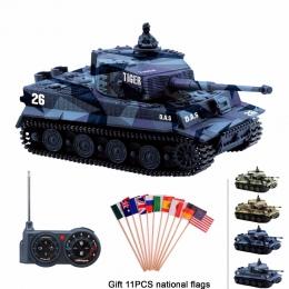 RC tank Niemcy Tiger I Kolorowe 1: 72 Wysoka Symulowane Żywe Wielki Mur 2117 mini Pilot Zdalnego Sterowania Zabawek