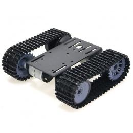Mini TP101 Inteligentny Tank Podwozie Gąsienicowe Podwozie Zdalnego Sterowania Platformy z Podwójnym DOIT Silnika PRĄDU STAŁEGO