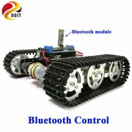 DOIT Bluetooth Sterowania Metalu Robota RC Tank Car Podwozie Gąsienicowe Śledzone Robot Konkurencji z UNO R3 Wyżywienie + Napędu