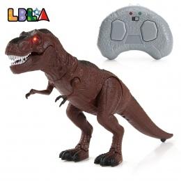 Pilot na podczerwień Do Chodzenia Dinozaurów Zabawki dla Kid Modelu Oczy świeci Się Dźwięk Action Figure Zabawki Elektryczne RC