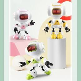 JJRC R9 RC Robot Dotykowe LED Oczy Smart Voice DIY Gest Korpus Ze Stopu Mini Robot Model Toy Prezent dla dzieci