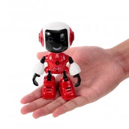99611 Mini RC Robot Inteligentny Robot Dotykowy Sterowania DIY Modelowanie Dyskusja Led RC Zabawki Posiadacz Telefonu Prezent dl