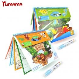 Magia Wody Rysunek Książkę Zoo Zwierząt Dinozaury Kolorowanka Doodle Magic Pen Malarstwo Rysunek Wyżywienie Dla Dzieci Zabawki E