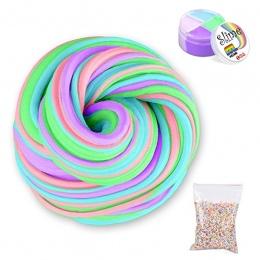 60 ml Puszyste Pianki Szlam Kit Stress Relief Magia MultiColor Szlam Osadów Bawełna Błoto Zabawki szlam zabawki antystresowe zab