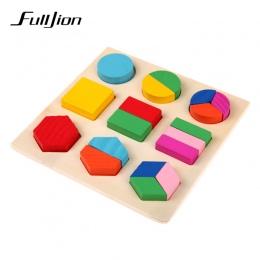 Fulljion Nauka Edukacja Montessori Drewniane Matematycznych Zabawki Puzzle Zabawki Dla Dzieci Edukacyjne Sprzęt Zasobów Geometri