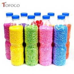TOFOCO 500 ml/Butelka DIY Śniegu Akcesoria Szlam Błoto Cząstki Pianki Piłki Mały Tiny Koraliki Dla Floam Wypełniacz Dla DIY Akce