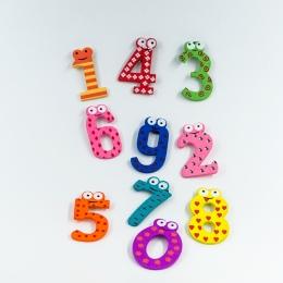 15 sztuk/zestaw Montessori Numer Dziecko Lodówka lodówka Magnesy Rysunek Stick Matematyki Drewniane Edukacyjne Dla Dzieci Zabawk