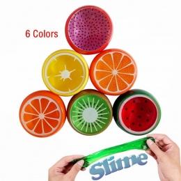 DIY Magiczny Kryształ Śluzu Kit Polimeru Gliny Zabawki Miękkie Gumowe Owoców Szlam dla Dzieci Inteligentny Ręcznie Plastelina Bł