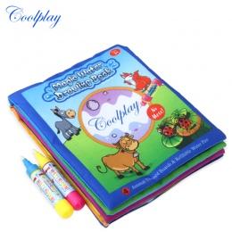 Zwierzęta Woda Rysunek Książki i 2 Magic Pen Wody Kolorowanki Deska Doodle Mat Dla Dzieci Uczenia Edukacyjne zabawki 21*17 cm)