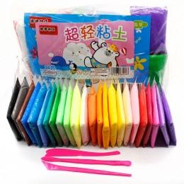 12/24 sztuk Powietrza Gliny Fimo Polymer Plasteliny Modelowania Gliny Światła DIY Miękkiej Kreatywny Handgum Zabawki DIY Plastel