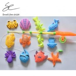 13 sztuk/partia Nauka i edukacja magnetyczne ocean fishing zabawki pochodzi outdoor fun & sport ryby zabawki prezent dla dziecka