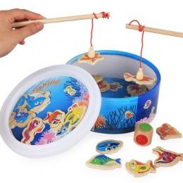 Nowe Dzieci Dziecko Zabawki Edukacyjne Zabawki Ryb Drewniane zabawki Magnetyczne Połowów Zestaw Gry dla Dzieci 20 Sztuk z Prezen