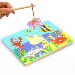 Dzieci Edukacyjne Połowów Układanki Puzzle Dla Dzieci Zabawki Drewniane zabawki Magnetyczne 3D Zabawne Gry Zabawki Dla Dzieci Pr