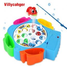 Dzieci połowów zabawki zestaw dzieci zabawki edukacyjne muzyczne prezenty elektryczne obrotowe połowów gry nie magnetyczny boisk