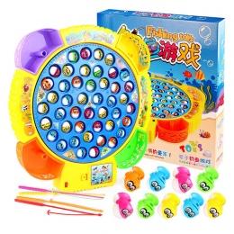 Klasyczne Połowów Zestaw Zabawek Dla Dzieci Edukacyjne Zabawki Z Muzyką Elektryczne Obrotowe Połowów Gry Śmieszne Sport Na Preze