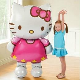 116*65 cm duże rozmiary Hello Kitty Cat foliowe balony cartoon urodziny dekoracje ślubne strona nadmuchiwane air balloons Klasyc