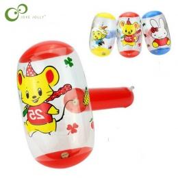 2 sztuk/partia Cartoon Nadmuchiwane Młot Młot Powietrza Z Bell Dzieci Dzieci Wysadzić Zabawki mały rozmiar Nadmuchiwane zabawki
