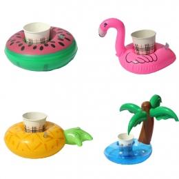 1 SZTUK Mini Coconut drzewa arbuz Pływające Zabawki Dmuchane Drink Can Uchwyt Na Telefon komórkowy Stojak Pool bath Zabawki