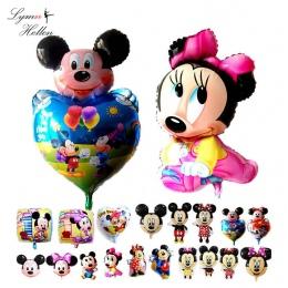 Mickey Party Ślub Urodziny Balon z Folii Aluminiowej Kulki Powietrza 3D Squishy Dzieciak Minnie Hot Cartoon Dziecko Zabawy Wystr