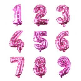 16 Cal Niebieski/różowy liczba Balony szczęśliwy urodziny Wesele szczęśliwy nowy rok Dekoracji Ubrany Dziecko Śmieszne Zabawki