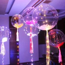 3 M LED Powietrza Balon Balon 18 Cal Świecenia Led String Okrągłe światła Bańka Hel Balony Na Zewnątrz Nadmuchiwane Zabawki dla