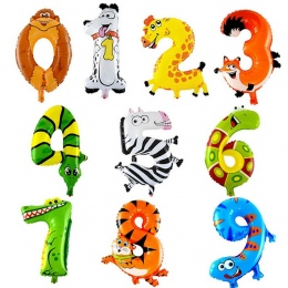 Numer CCINEE 1 Sztuk Zwierząt Balon Balony Foliowe Balony Nadmuchiwane Powietrza Z Okazji Urodzin Ślubne Prezenty Dla Dzieci Nad