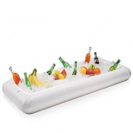 Nadmuchiwane Piwo Tabeli Służąc Pool Float Lato Lód Wiadro Wody Party Materac Powietrza/Bar Sałatkowy Tacy Food Drink Holder