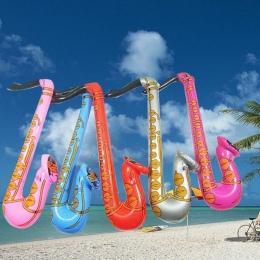 Śmieszne Nadmuchiwane Zabawki Losowy Kolor Wysadzić Rock And Roll Saksofon Disco Holiday Party Muzyka Zabawki 70 cm