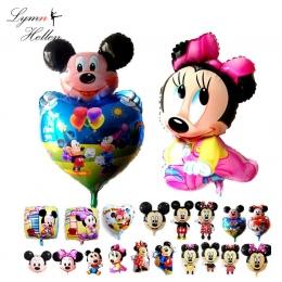 Mickey Minnie Balon Ślub Birthday Party Folia Aluminiowa Kulki Powietrza 3D Cartoon Dziecko Zabawy Squishy Antystres Dzieciak Za