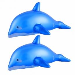 CCINEE 2 Sztuk 40 CM Przyjazny PVC Projekt Delfin Nadmuchiwane Zabawki Dla Dzieci W Kształcie Zwierząt Balony Nadmuchiwane Carto