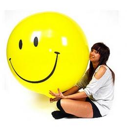 1 Sztuk/partia 25G Żółty Uśmiech Duża Latex Nadmuchiwane Zabawki Dla Dzieci Z Okazji Urodzin Big Huge Odtwarzane Zabawki Strona