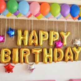 13 sztuk/partia 16 inch Złota W Kształcie Z Okazji Urodzin Pismo Nadmuchiwane Balony Foliowe Balony Balon Powietrza Nadmuchiwane
