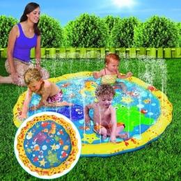 100 cm Summer dzieci Zabaw Na Świeżym Powietrzu Gry Wodne Mata Plażowa Trawnik Nadmuchiwane Tryskaczowej Poduszki Zabawki Podusz