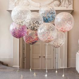 10 sztuk Powietrza Balon Balony Multicolor Konfetti Papieru Chcąc Lampiony Birthday Party Dekoracje Ślubne Wyczyść Pompowany Bal