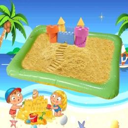 Duży Nadmuchiwany Piaskownicy Zabawki Magiczny Piasek Uchwyt Wodoodporna Dziecko Kryty Dynamiczny Gliny Mata ToysCastle Plaża Dz