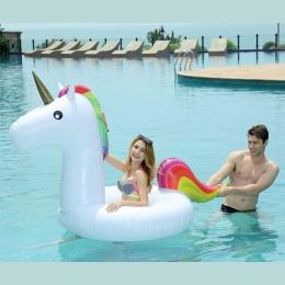 175*120 CM Pierścień Pływanie Basen Nadmuchiwane Zabawki Jednorożec Jednorożec Koło Donut Pool Float Dla Dzieci Dorosłych Lato W