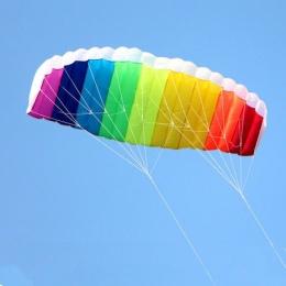 Darmowa wysyłka podwójna linia 1.5 m stunt Parafoil latający latawce rainbow Sportów Plażowych kitesurfing kite z uchwytem ripst