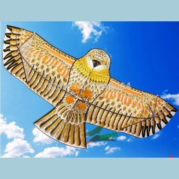 Darmowa wysyłka wysokiej jakości 1.8 m złoty orzeł latawiec z uchwytem linia games ptak latawiec latawiec latawiec weifang chińs