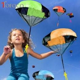 TOFOCO Rąk Rzucanie Spadochrony Kite Zabaw Dla Dzieci Mini Spadochron Żołnierz Zabawki Propaganda Zabawki Latawce Sportowe dla D